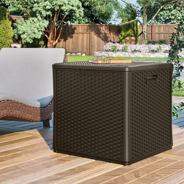 wicker watertight patio storage box - Patio Storage Box
