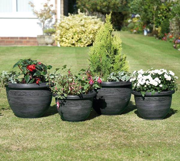wenlock planters pack of 4. Black Bedroom Furniture Sets. Home Design Ideas