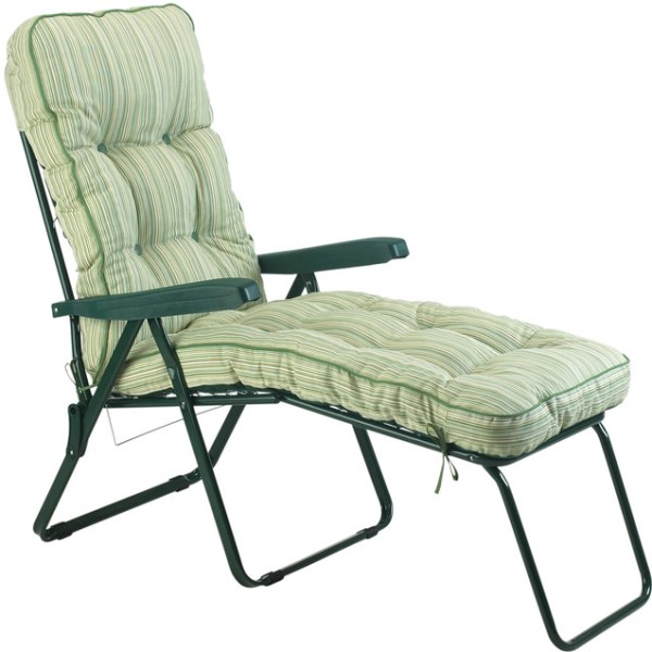Cotswold Stripe Padded Sun Lounger