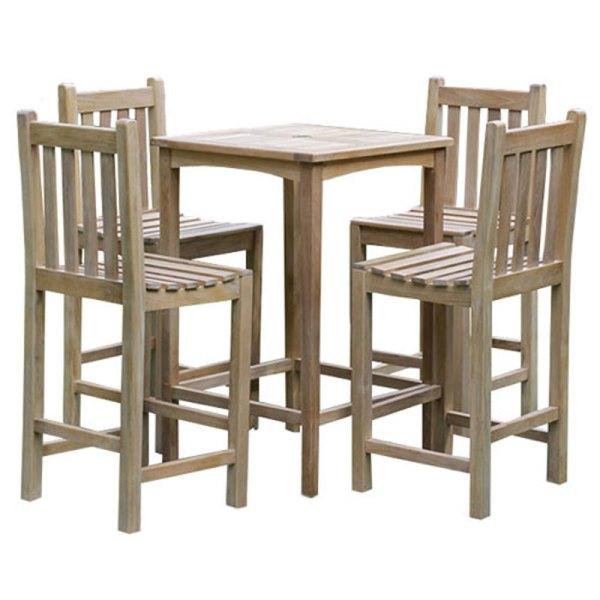 Warwick Teak Bar Table Set