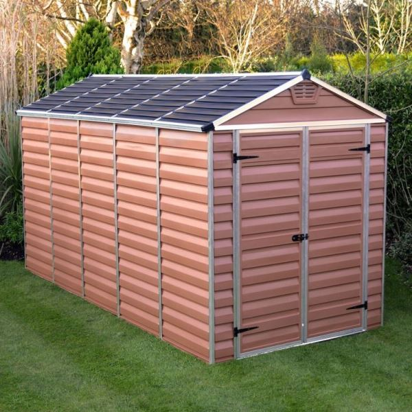 Palram Skylight 6ft X 12ft Plastic Shed Amber